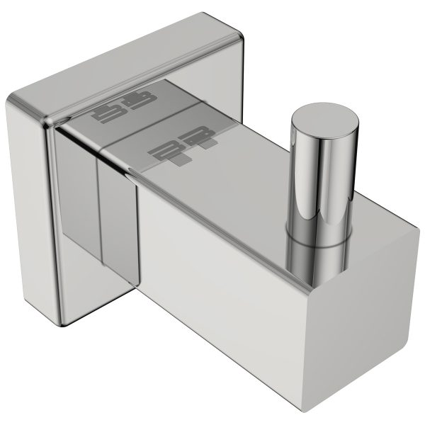 polished stainless steel square robe hook handles inc