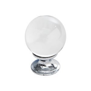 polished chrome round crystal knob handles nc