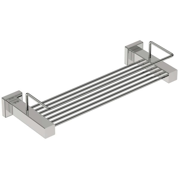 polished stainless steel square soap basket handles inc