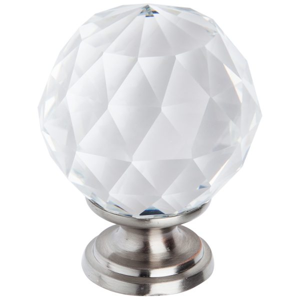 satin nickel crystal cabinet knob handles inc