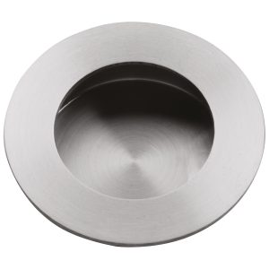 brushed stainless steel round flush pull handles inc