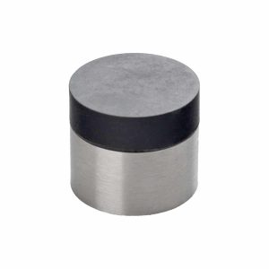 brushed stainless steel wall mounted doorstop handles inc