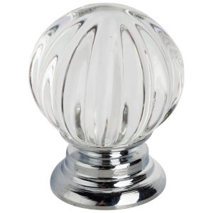 polished chrome crystal cabinet knob handles inc