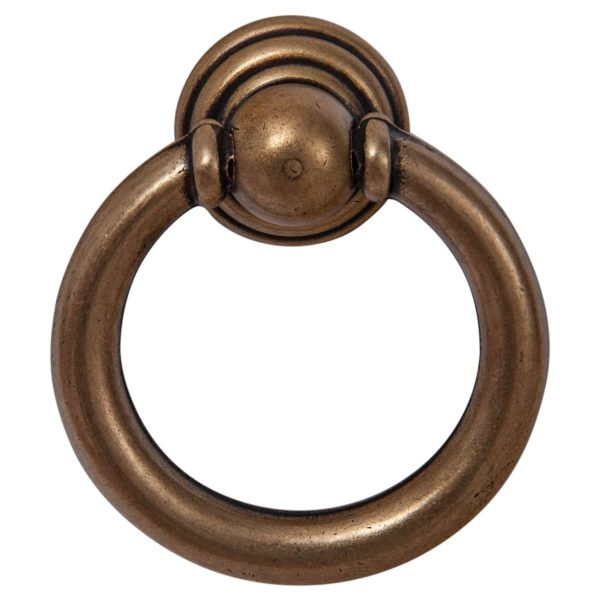 antique brass cabinet drop ring handles ic
