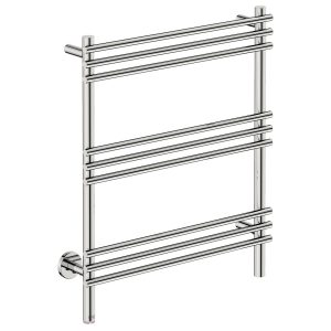 polished stainless steel heated towel rail bathroom butler