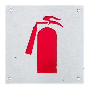 natural anodised red fire extinguisher sign handles inc