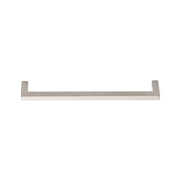 brushed stainless steel square mitred cabinet handle handles inc