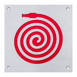 natural anodised red fire hose sign handles inc