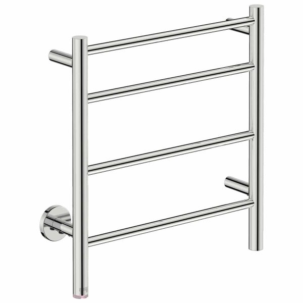 polished stainless steel heated towel rail handles inc