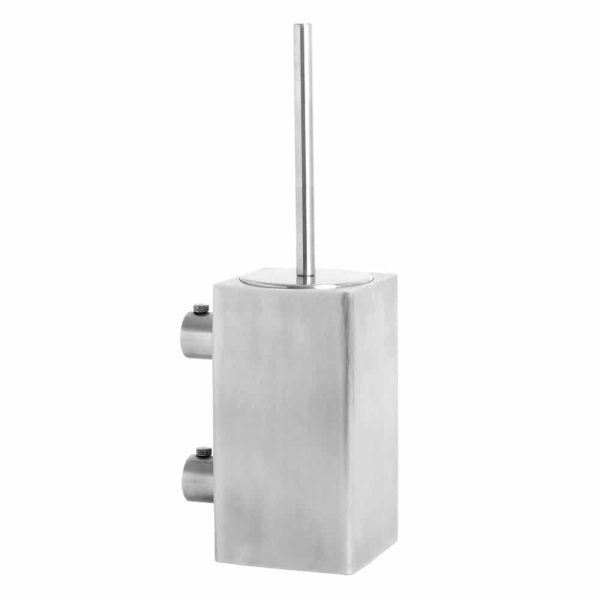 Brushed stainless steel wall mounted square toilet brush Handles Inc