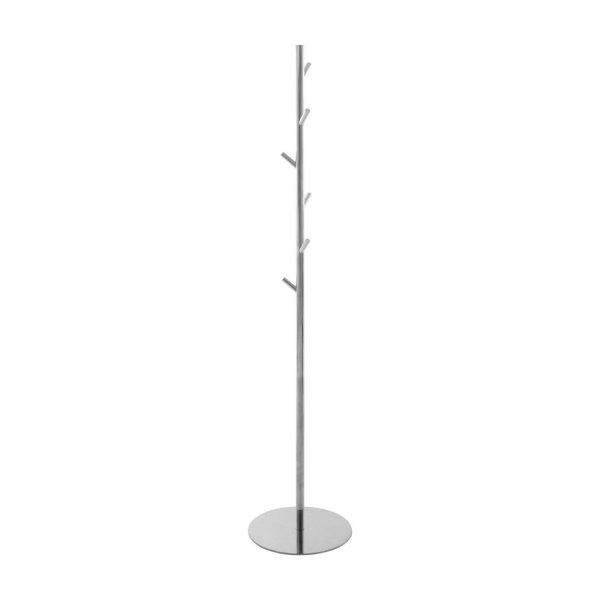 Polished stainless steel coat and hat stand Handles Inc