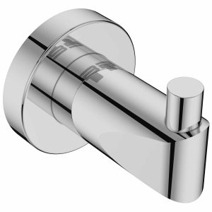 Polished chrome single robe hook Bathroom Butler