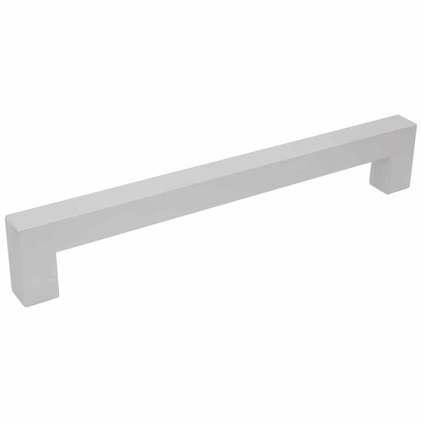 Natural anodised square contemporary cabinet handle Handles Inc