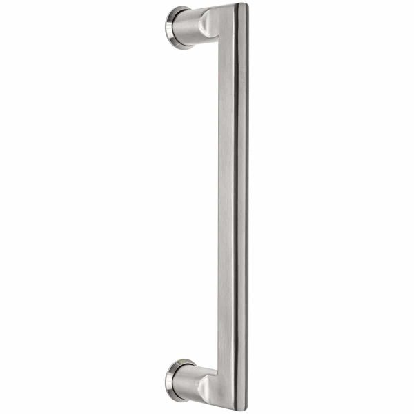 brushed stainless steel pull handle handles inc