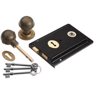 black rim lock handles inc