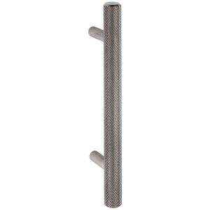 brushed stainless steel knurled cabinet T handle handles inc