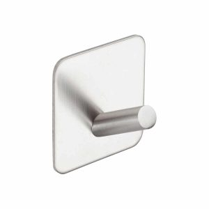 brushed stainless steel self adhesive hook handles inc