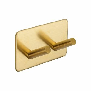 satin brass self adhesive hook handles inc