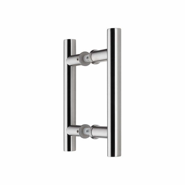 brushed stainles steel T pull handle handles inc