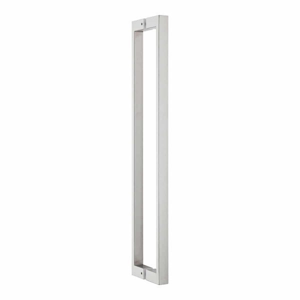 brushed stainless steel square pull handle handles inc