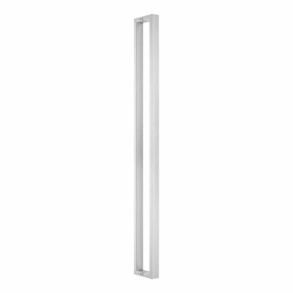 brushed stainless steel square pull handle hadnles inc