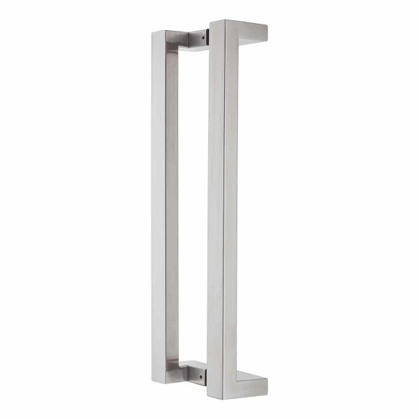 brushed stainless steel offset pull handle handles inc
