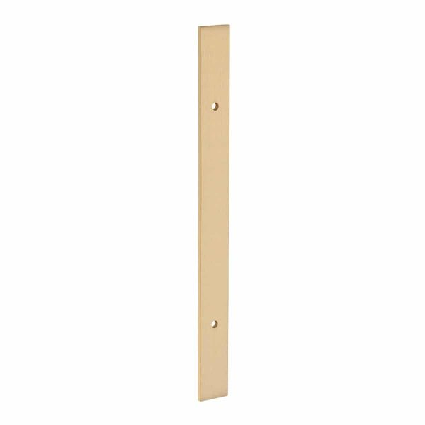 brushed brass plate handles