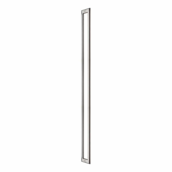 Brushed stainless steel oval back to back pull handle Handles Inc all