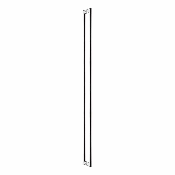 Polished stainless steel oval back to back pull handle Handles Inc