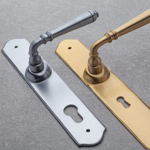 Lever Handles on Backplate